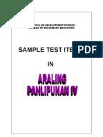 Test Items - Araling Panlipunan IV