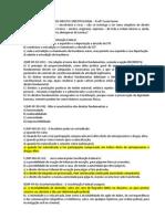 APOSTILA DE EXERCÍCIOS DE DIREITO CONSTITUCIONAL