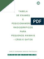 11-Tabela de Exames e Posicionamentos Radiograficos