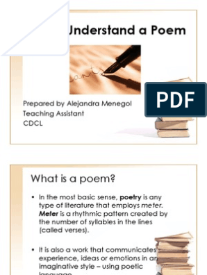 How To Understand A Poem Poetry Senses
