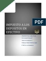Impuesto a Los Depositos en Efectiv0