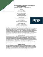 Curso intensivo de campo. Ecología de enfermedades de fauna silvestre y conservacion de anfibios
