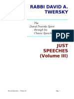 Not Just Speeches -- Volume III