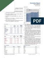 Derivatives Report 29th March 2012