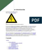 Accidente por electrización