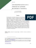 Evaluación neuropsicológica en la enfermedad de Alzheimer