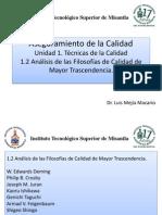 1.2 Análisis de las Filosofías de Calidad,Feb,14,2012