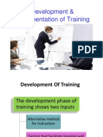 Development Implementation of Training