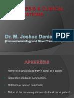 Apheresis Joshua Daniel NEW