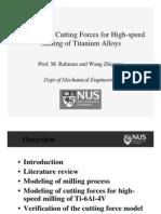 Cutting Force Model