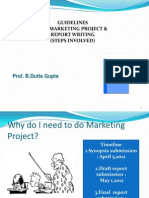Project Thesis Guidelines 2012