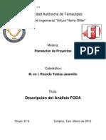 Analisis FODA - Camacho Turrubiates Roberto R.