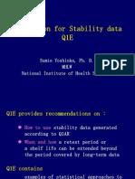 Q1E_Evaluation for Stability Data