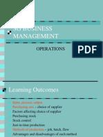 Operations Presentation