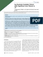 PAPAS Predict Liver Fibrosis