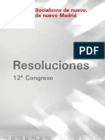 PSOE PSM Resoluciones 12 Congreso