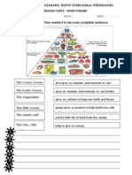 Worksheet Food Pyramid