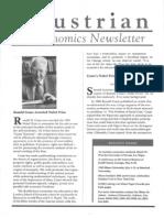 Austrian Economics Newsletter Spring 1992