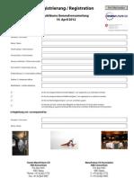 Formular Registrierung