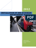 Installation of DNS in Domain Environment With IIS