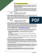 2011 W-2 FAQ's