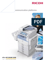 Ricoh Aficio MP2550 MP3350 Brochure