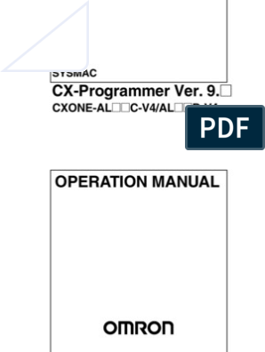 Cx Programmer Operation Manual Programmable Logic Controller Input Output