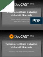 Tworzenie aplikacji z użyciem biblioteki Hibernate