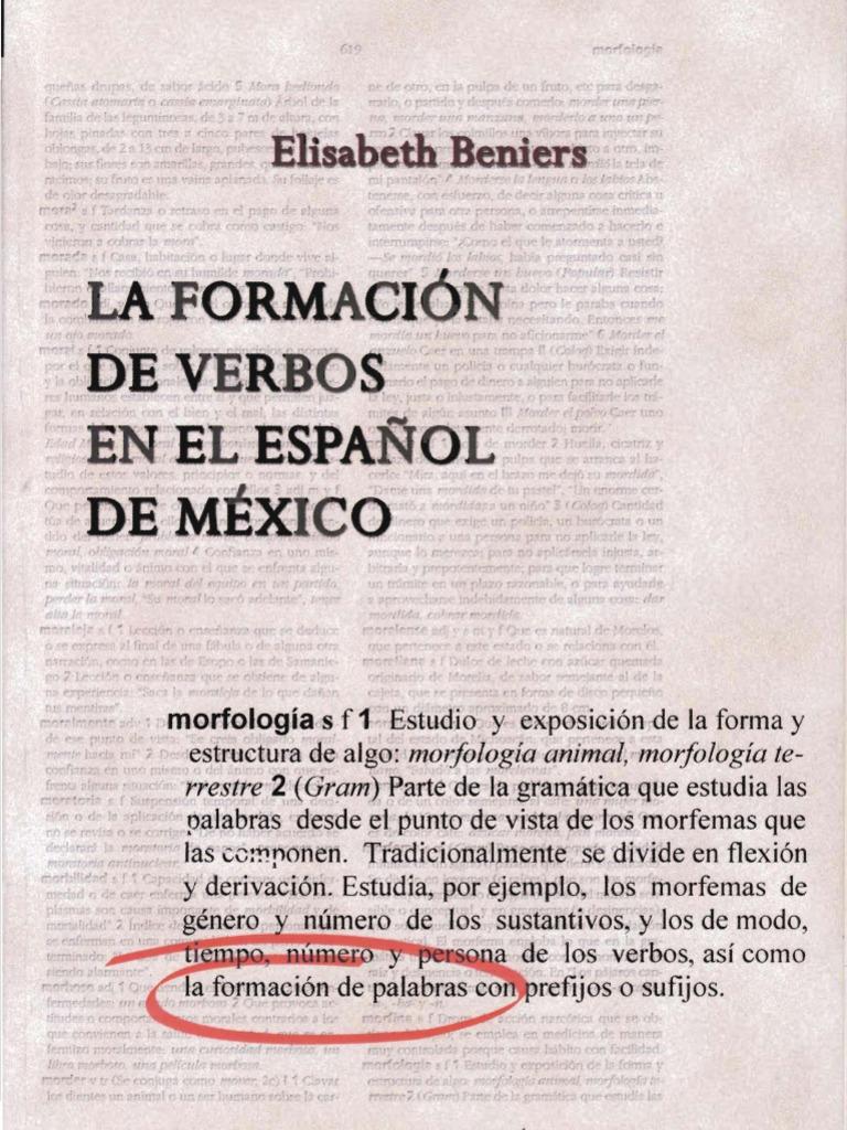 Beniers, E. 2004. La formación de verbos