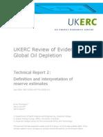 Technical Report 2 - Definition and Interpretation of Reserve Estimates