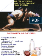Metabolism of Lipids 1