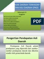 Potensi Pajak Daerah Terhadap an Asli Daerah (