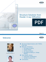 Webinar 200910 - Structure Solutions From Powder XRD