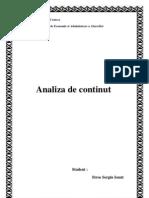 PR Analiza de Continut