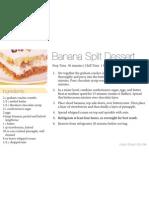 Banana Split Dessert 4x6