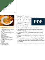 Bean Soup 4x6