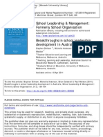 Breakthroughs in School Leadership Development in Australia