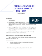 Structural Changes in Pakistan Exports