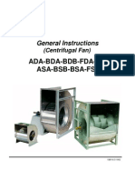 General Instruction-Centrifugal Fan