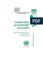 Informe 2008 Sobre Inversion Extranjera