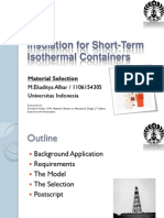 Insulation for Short-Term Iso Thermal Containers
