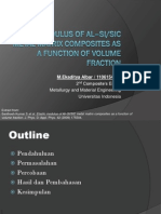PPT Elastic Modulus of Al–Si/SiC Metal Matrix Composites as a Function of Volume Fraction