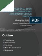 PPT Elastic Modulus of Al–Si/SiC Metal Matrix Composites as a Function of Volume Fraction