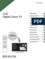 Sony KDL Manual