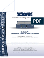 Broadcast Tools Site Sentinel 4 Install Op Manual v2 12-01-2009