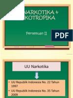 UU NARKOTIKA & PSIKOTROPIKA