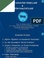 Su Altı Akustik Temeller & Eğitim Faaliyetleri - Dr. Serkan Aksoy