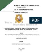 Control Interno en El Departa de Ejecu. Presupuestal