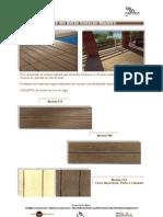 Deck em Betão Imitação Madeira