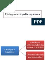 Etiología cardiopatía isquémica